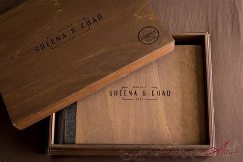 Turks & Caicos Wedding Album and Box ? new wood cover