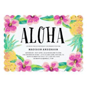 aloha party invitations amp announcements zazzle