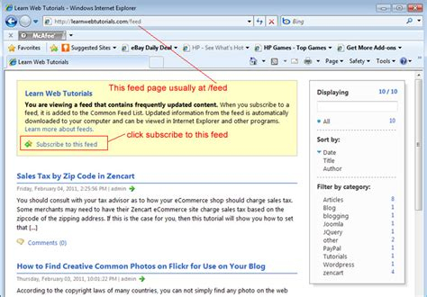 how to subscribe to rss feeds using firefox and internet