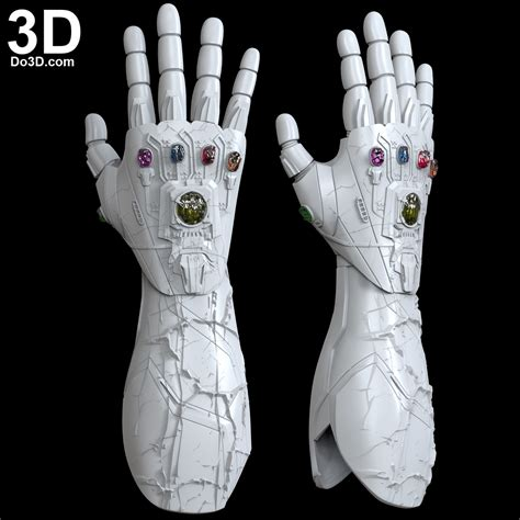 printable model iron man nano infinity gauntlet