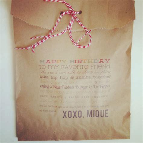 Thirty Handmade Days - gift bag thirty handmade days