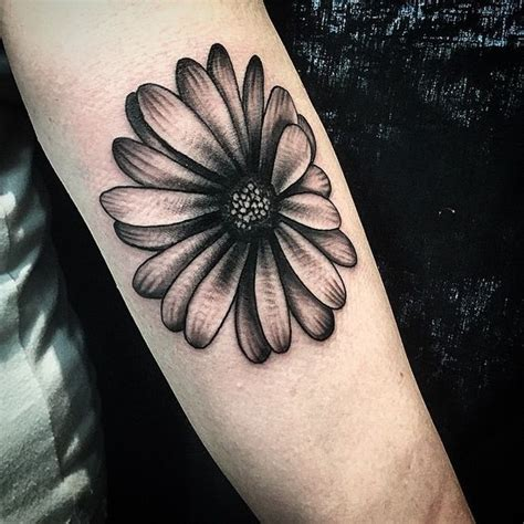 gerber daisy tattoo but would add some color and it d be on my