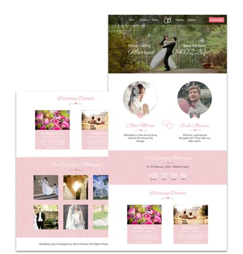 wedding website template cakewp