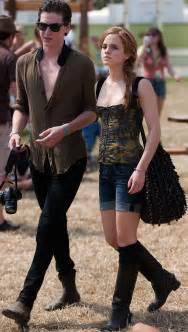 emma watson at glastonbury with new boyfriend george craig