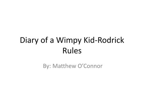 diary of a wimpy kid rodrick book report ppt diary of a wimpy kid rodrick powerpoint