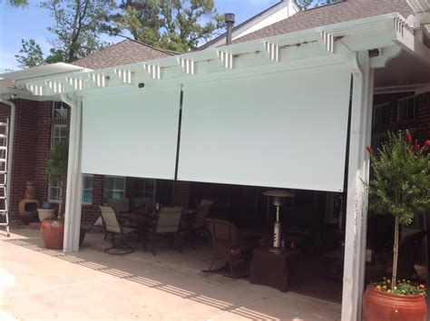 Patio Shades by Manual Roll Up Patio Shades American Sunscreens By