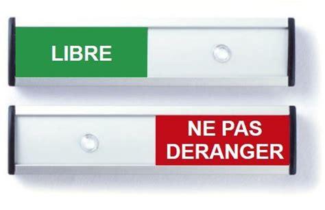Plaque De Propreté Pour Porte 125 by Plaque Occup 233 Libre 125 X 30 Mm