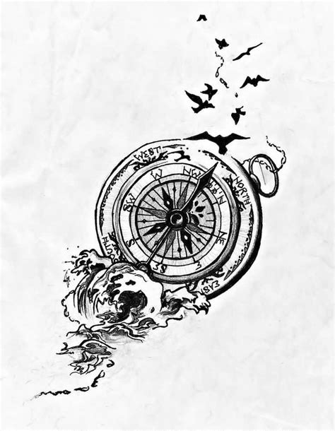 tattoo compass bird image result for compass bird tattoo ideas pinterest