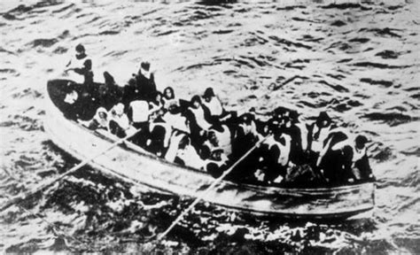 titanic picture of boat titanic picture of last lifeboat and its bodies found