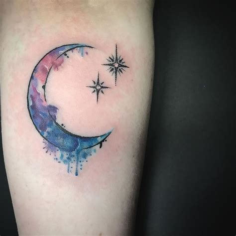 moon and stars tattoo 25 best crescent moon tattoos ideas on moon