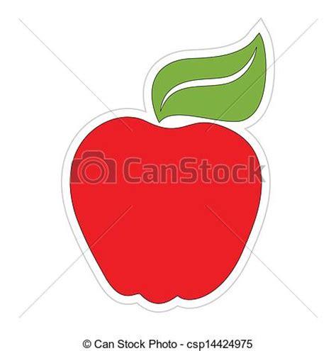 Apple Logo Aufkleber Klein by Vektoren Illustration Aufkleber Karikatur Apfel