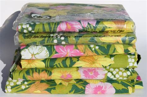vintage bed sheets 70s vintage bedding retro lime green pink flowered