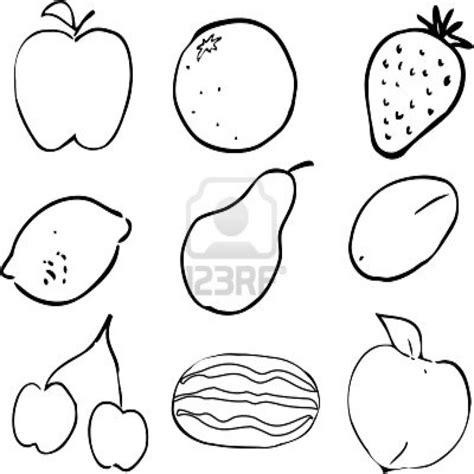 imagenes para pintar verduras dibujos frutas colorear