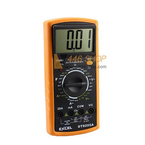 Multimeter Excel excel dt9205a digital multimeter electrical meter lcd ac dc volt ohm meter ammeter