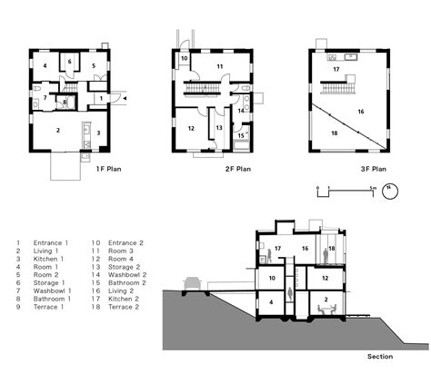 section of plan gallery of house with square opening nks architects 16
