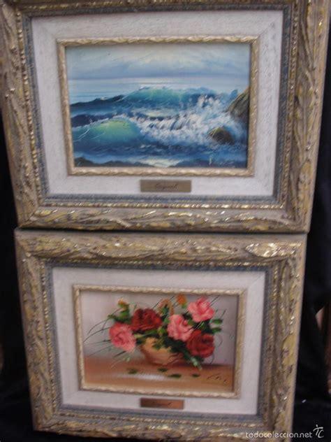 precio de cuadros al oleo pareja de cuadros al oleo mar y cesta con flore comprar