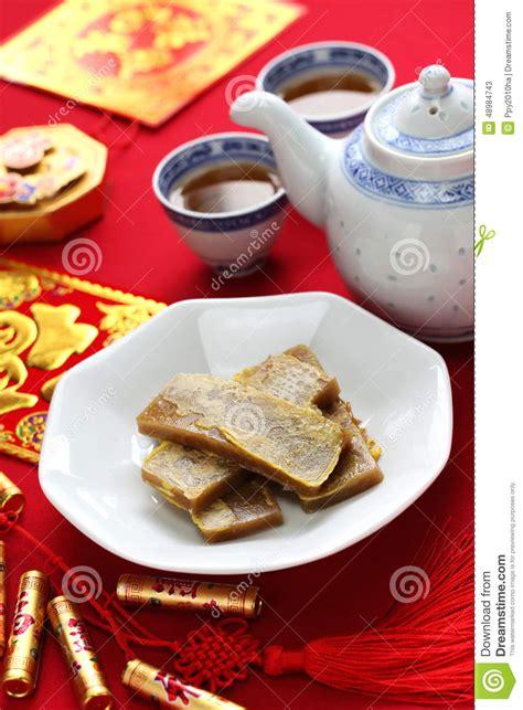 fried new year cake nian gao new year rice cake stock image image