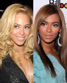 beyonce skin color who their skin white