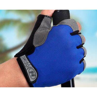 Sarung Tangan Fitness Blue sarung tangan half finger sepeda size l blue