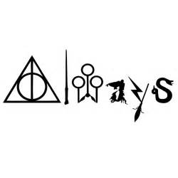 Wall Sticker Letters always with harry potter symbols decal harry potter