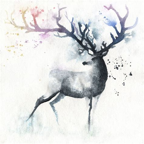 deer watercolor tattoo 25 best ideas about deer on deer drawing