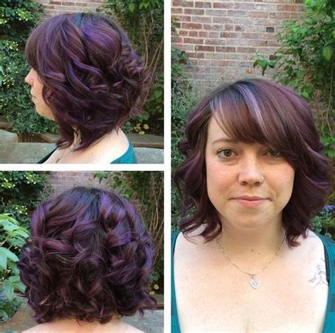 dark brown aline hair cut with highlights 56 best images about hair colors on pinterest curly bob