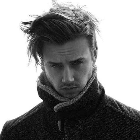 long men s haircut with simple styling behind the ear 66 best men s long er hair images on pinterest man s