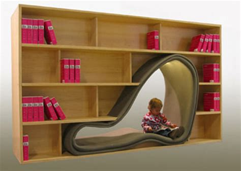 bookcase chairs combine book storage reading space