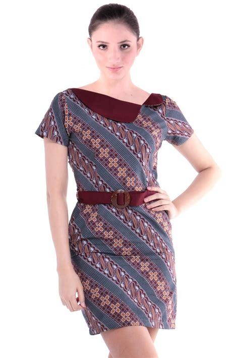 Dress Batik dress batik modern terbaru 2017 cantik anggun dan
