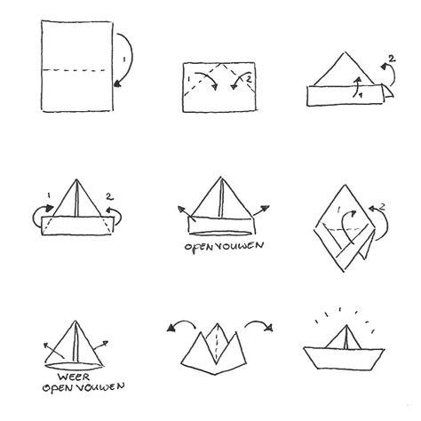 bootje in papier vouwen bootje vouwen origami pinterest zoeken google en