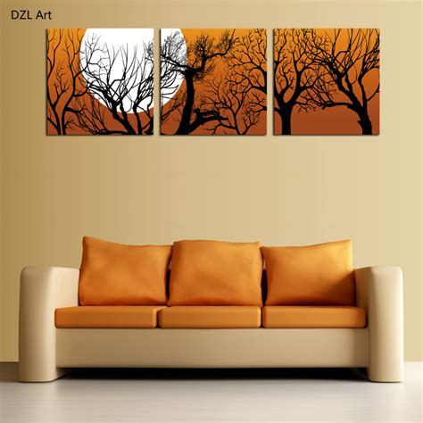 aliexpress com buy unframed 3 sets abstract tree modern canvas wall art home wall decor hd aliexpress com buy unframed 3 sets canvas painting moon