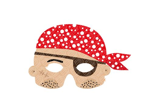 pirate paper mask printable pdf pukaca