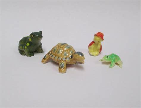 small animal figurines for crafts vintage 4 miniature animal figurines painted by retrogal415 crafts miniature