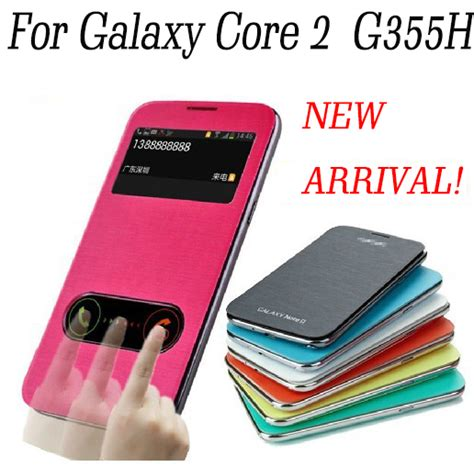 Casinghousing Samsung 2 G355h for samsung galaxy 2 duos flip cover with logo for g355h battery housing cover in