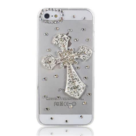 Air Iphone 5s 3d Hardcase 3d handmade cross bling transparent