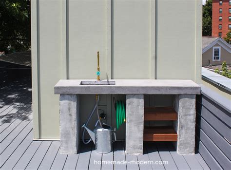 modern ep96 diy outdoor kitchen with concrete