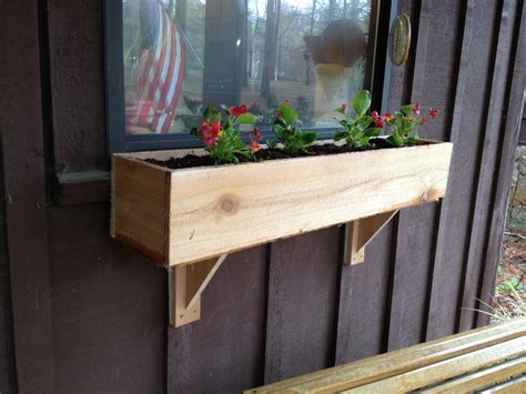Diy Window Flower Box And Supports For Under 5 And Under What To Put In Bottom Of Planter For Drainage