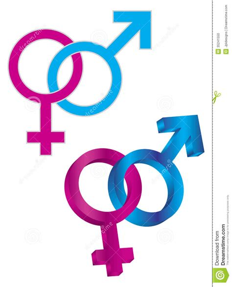imagenes simbolos hombre y mujer male and female gender symbol intertwined stock photo