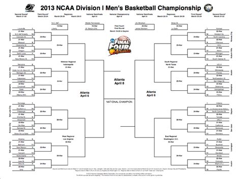 march madness mens teams music is my soul march madness men s 2013 brackets