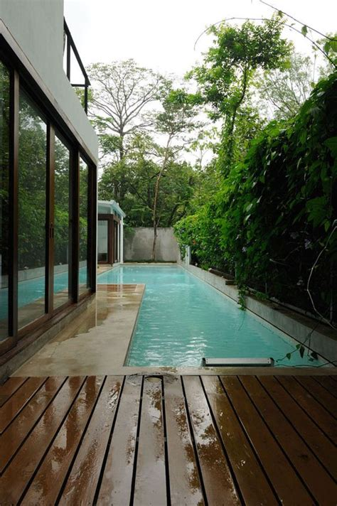 gorgeous outdoor narrow pools youll   dip