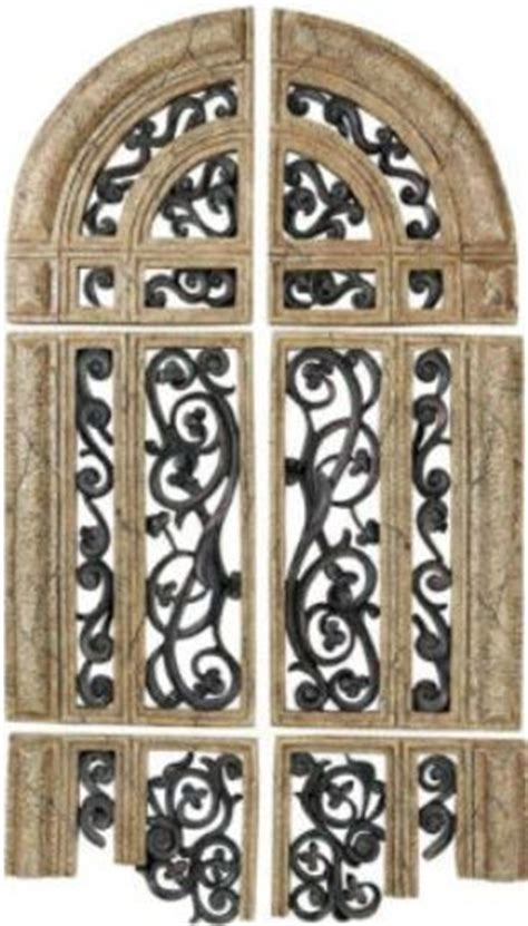 arch shaped wall decor cbk styles 65581 set 6 wall decor in fragmented