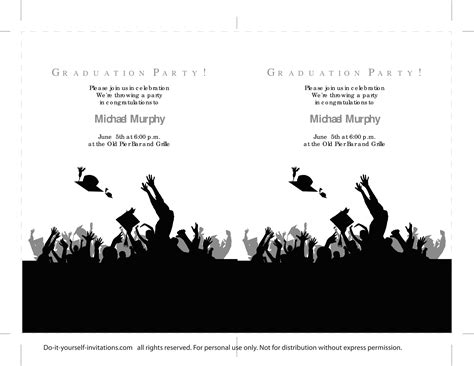 graduation templates 40 free graduation invitation templates template lab