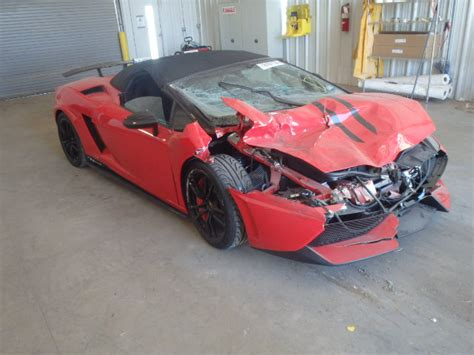 Damaged Lamborghini For Sale Wrecked Lamborghini Gallardo Lp570 4 Performante For Sale