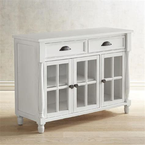Buffet Table With Glass Doors Heartland White Wood Dining Table