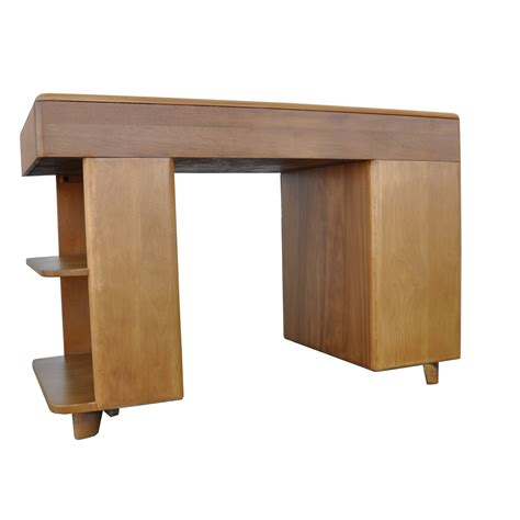 Heywood Wakefield Vintage Chagne Student Desk Shelf Student Desk With Shelves