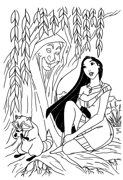 Free Printable Pocahontas Coloring Pages For Kids Pocahontas Coloring Pages
