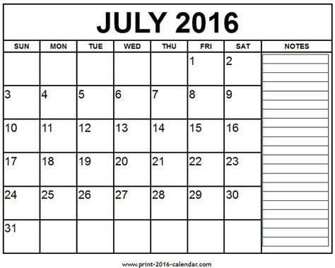 printable july daily calendar printable july 2016 calendar