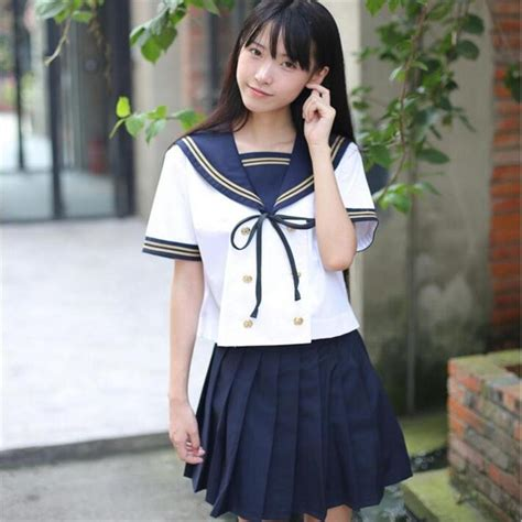 2pcs Japanese Style Dress jk japanese fashion sailor top skirt 2pcs school uniforms wholesale oy d1025 in