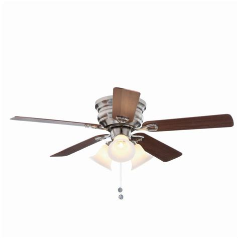 to ceiling fan with light clarkston 44 in brushed nickel ceiling fan replacement