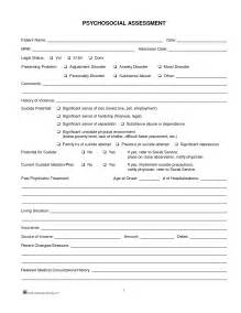 social work biopsychosocial assessment template biopsychosocial assessment social work template